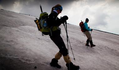 Snow spring adventure on Fuji mountain