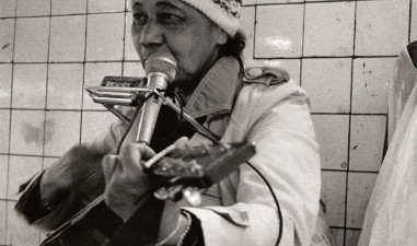 Musician in subway