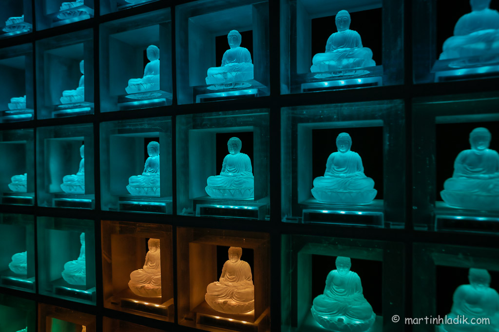 Ruriden - Buddhist memorial hall built to accommodate more then 600 funeral ash urns.