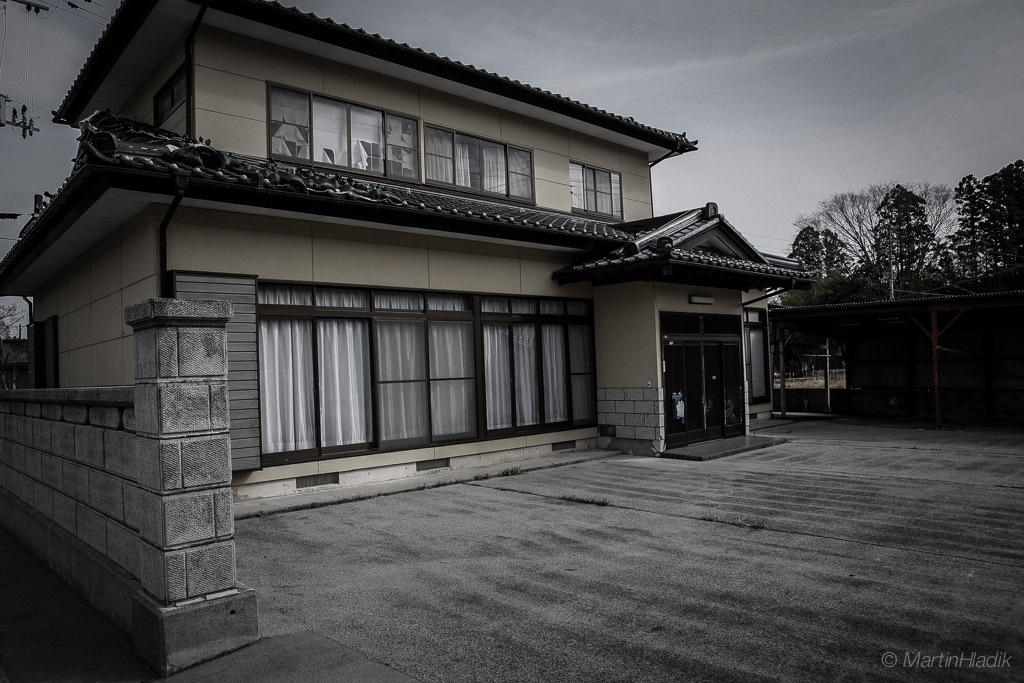 Private houses remained empty even after 5 years from nuclear power plant accident in 2011.