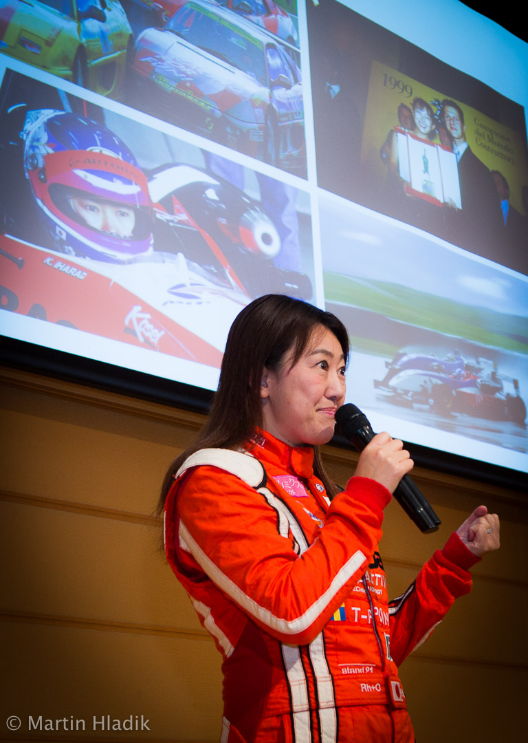 Keiko Ihara - first woman to take the podium at the elite FIA World Endurance Championship (WEC) race. She hold the speech at Tokyo American Club for the Asian University of Woman where I photographed her.